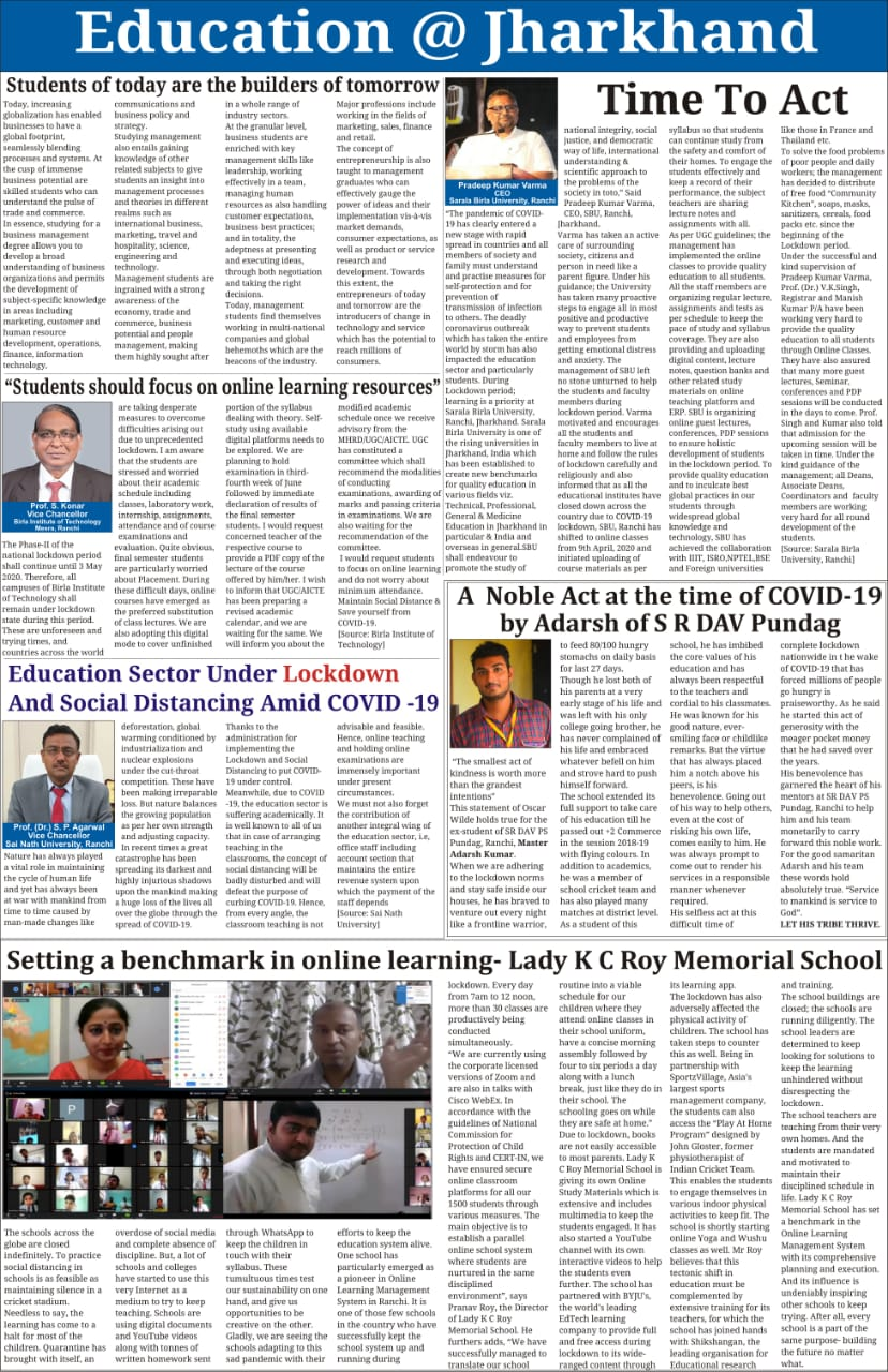 THE PIONEER-RANCHI 4/27/2020 12:00:00 AM