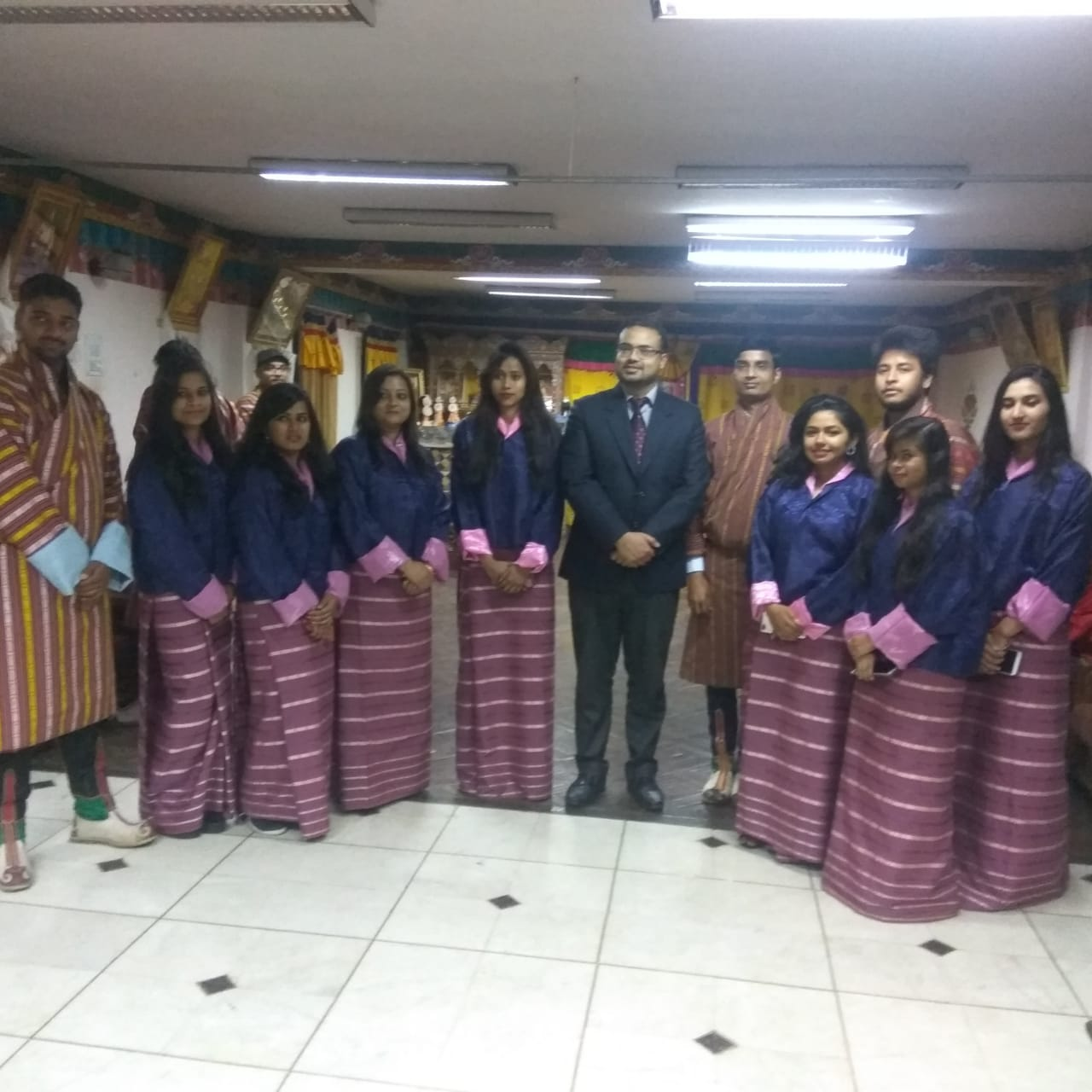 BHUTAN TRIP:STUDENTS INTERACTED WITH THE ART & CULTURE OF BHUTAN