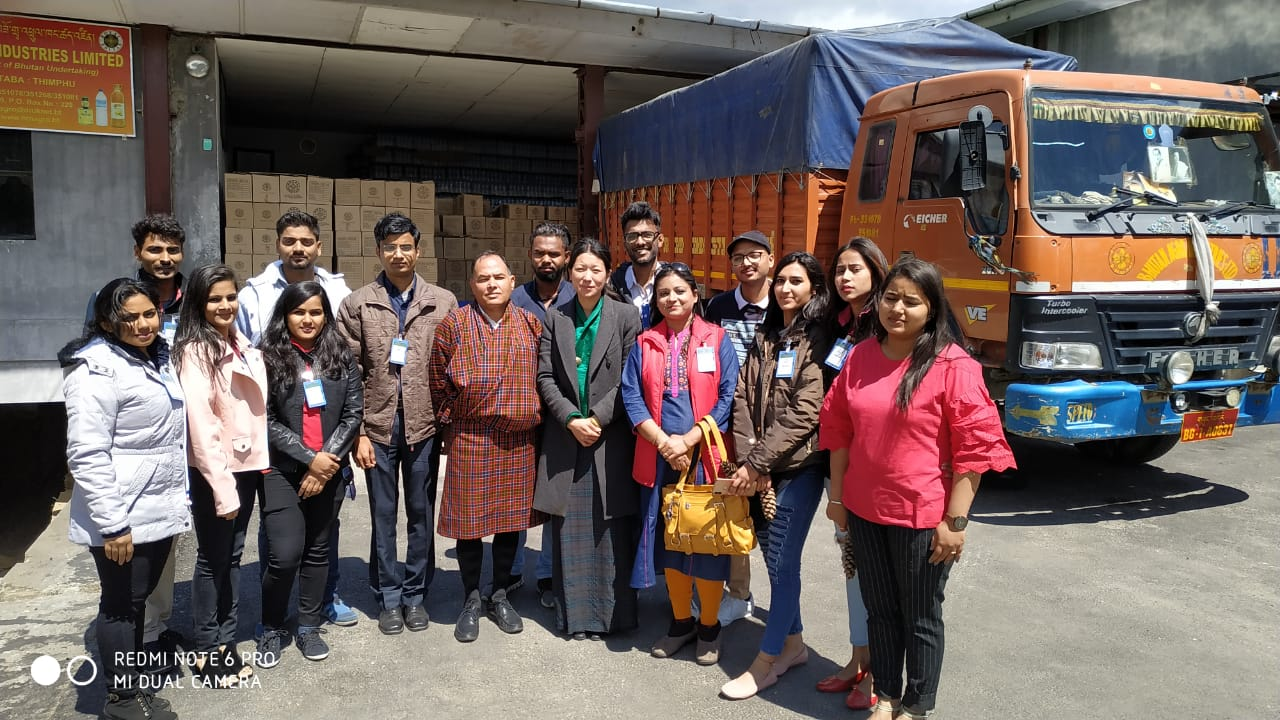 BHUTAN TRIP:STUDENTS VISITED AGRO INDUSTRY