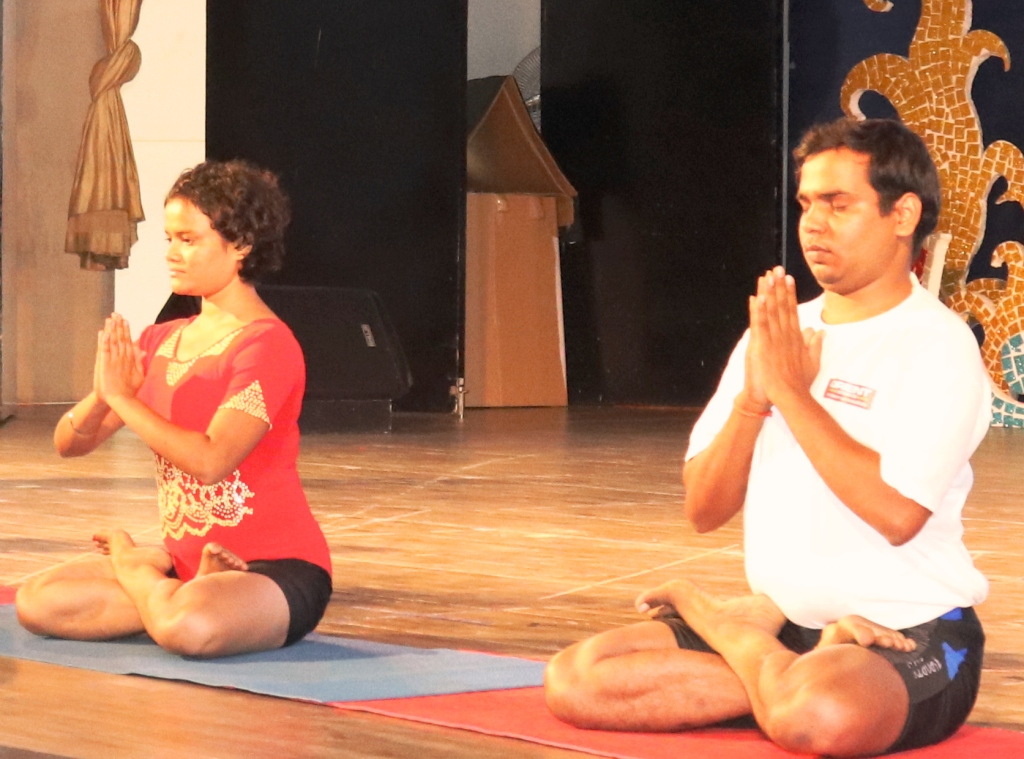 INDUCTION CUM VALEDICTORY : YOGA ACTIVITY BY YOGA STUDENT