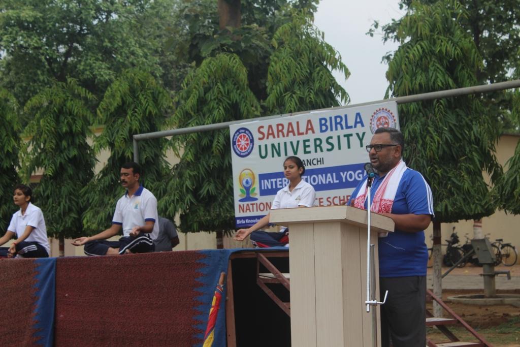SARALA BIRLA UNIVERSITY  CELEBRATED INTERNATIONAL YOGA DAY