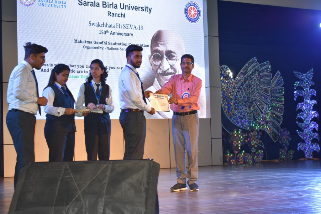 "Swachchta Hi Sewa Hai - ""Mahatma Gandhi Sanitation Convention- The seminar held in SBU Campus- 3rd October,2019"