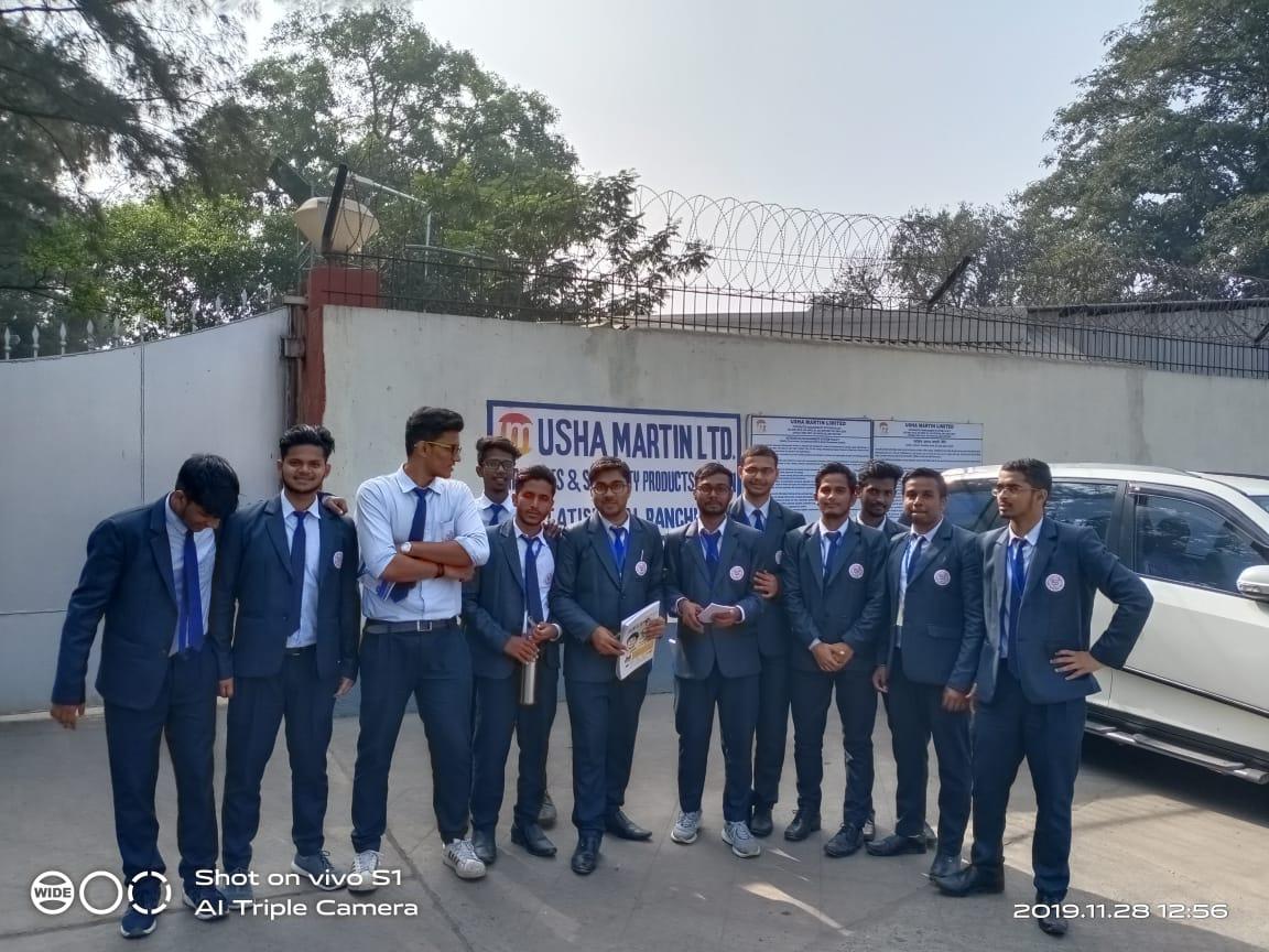 SBU Organized Industrial Visit to Usha Martin Ltd - 28th Nov,2019