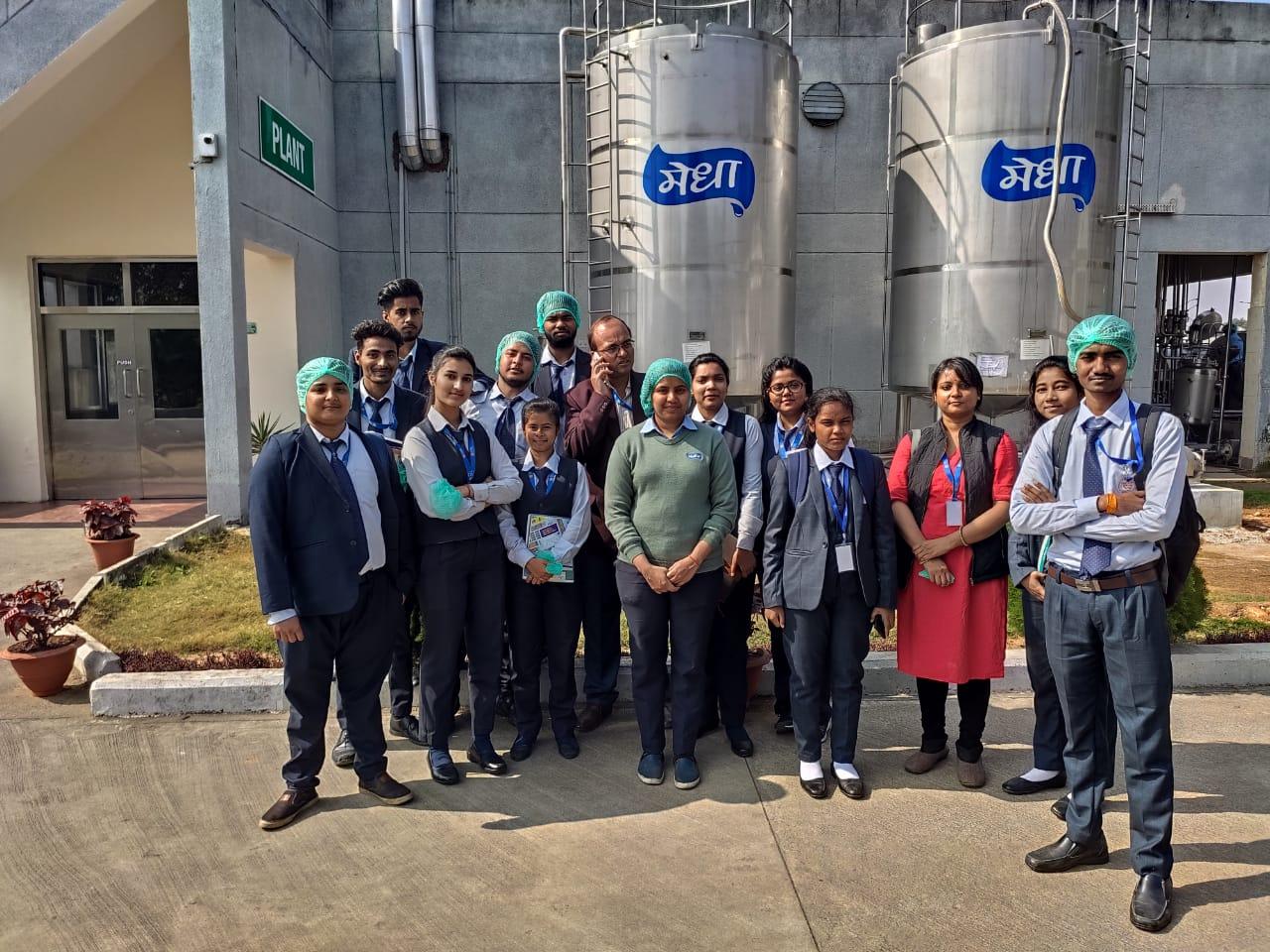 SBU Organized Industrial Visit to Medha Diary - 29th Nov,2019