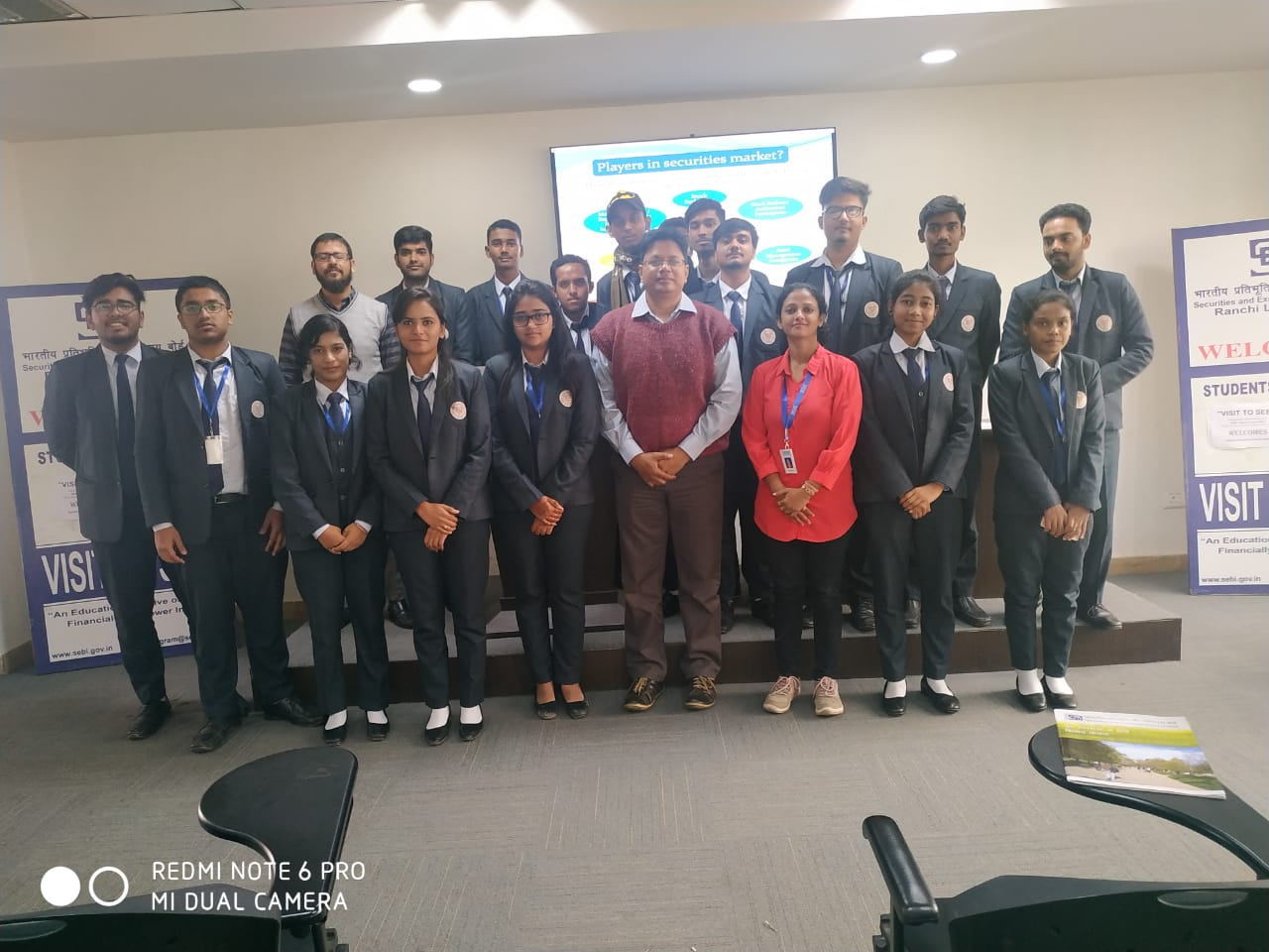SBU Organized Industrial Visit to Securities and Exchange Board of India (SEBI) - 16th December, 2019