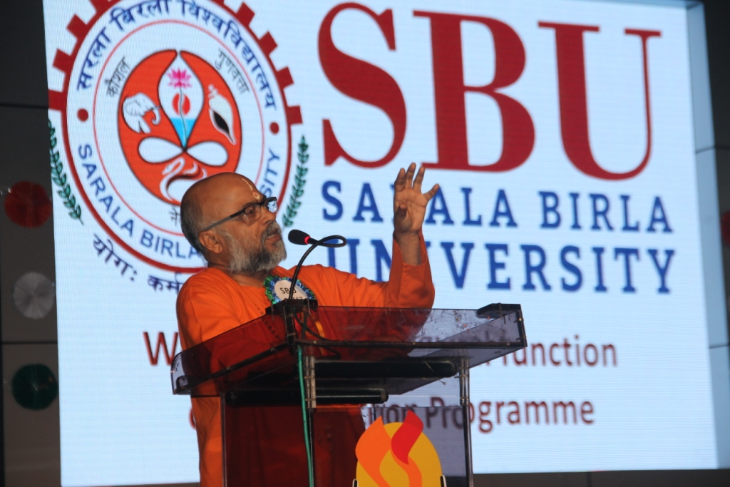 Induction : Address by Guest of honor Swami Madhavanand ji
