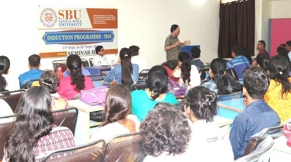 Induction : Eminent speaker Dr A K Srivastava Addressing