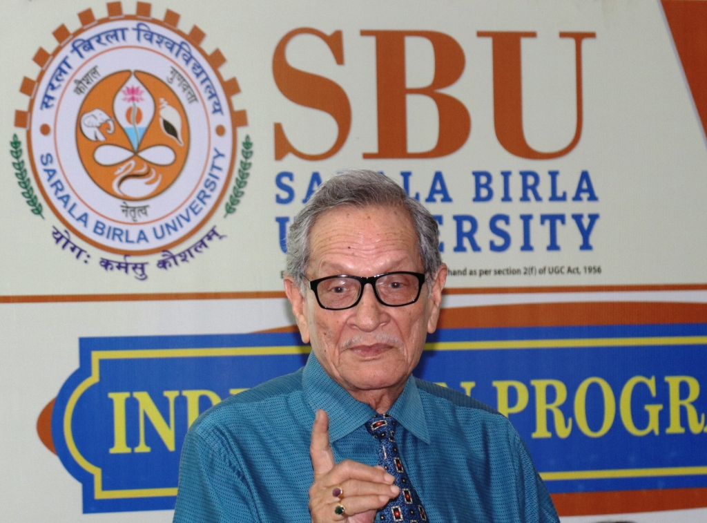 Induction : Eminent speaker Prof. (Dr) S P Singh Addressing  students